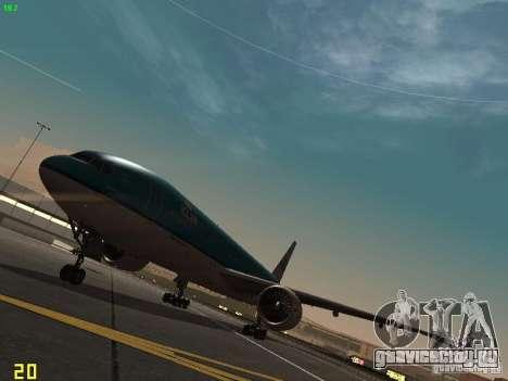 Boeing 777-200 KLM Royal Dutch Airlines для GTA San Andreas вид слева