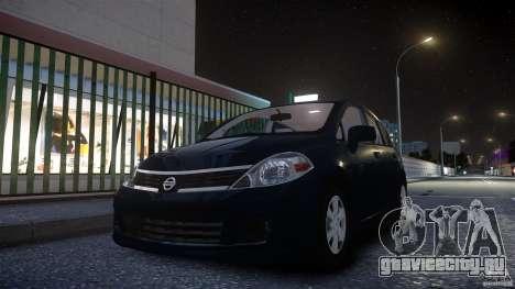 Nissan Versa для GTA 4 вид сзади слева
