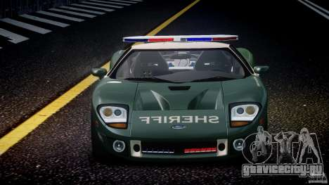 Ford GT1000 Hennessey Police 2006 [EPM][ELS] для GTA 4 салон