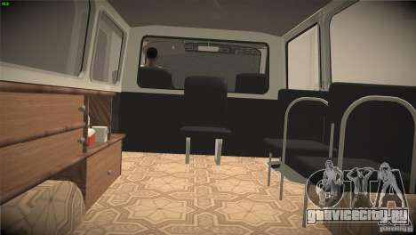 Раф 22031 Скорая помощь для GTA San Andreas вид изнутри
