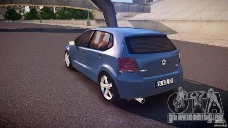 Volkswagen Polo 2011 для GTA 4 вид сзади слева