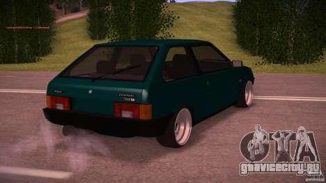 ВАЗ 2108 Low Classic для GTA San Andreas вид сзади слева