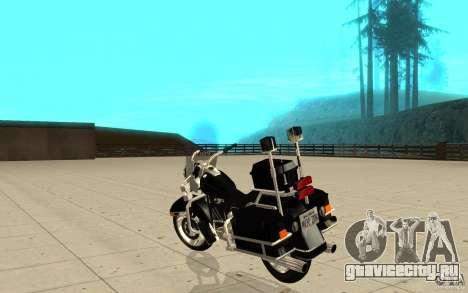 GTAIV TBOGT PoliceBike для GTA San Andreas вид сзади слева