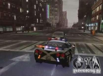 Chevrolet Corvette Z06 Police для GTA 4 вид справа