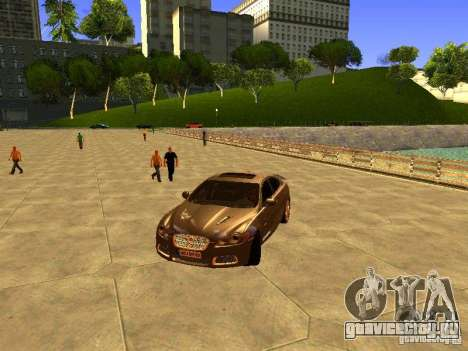 Jaguar XFR 2011 для GTA San Andreas вид изнутри