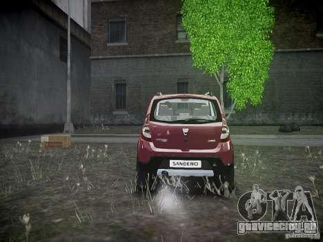 Dacia Sandero Stepway для GTA 4 вид справа