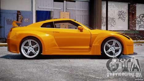 Nissan Skyline R35 GTR для GTA 4 вид сзади