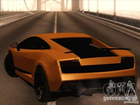 Lamborghini Gallardo Superleggera для GTA San Andreas вид справа