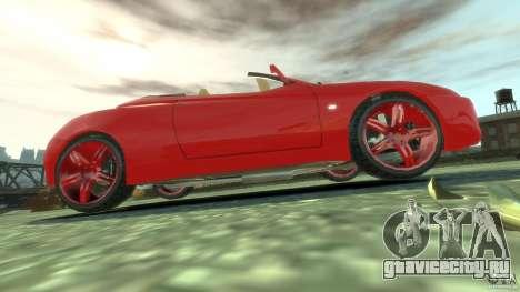 Alfa Romeo GTV Spider для GTA 4 вид сверху