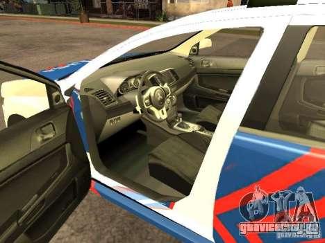 Mitsubishi Lancer X Police Indonesia для GTA San Andreas вид сзади слева