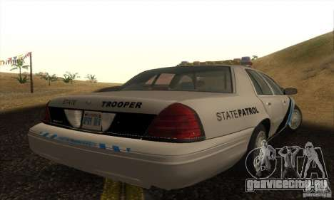 Ford Crown Victoria Colorado Police для GTA San Andreas вид слева