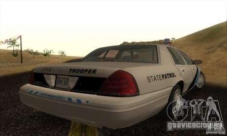 Ford Crown Victoria Colorado Police для GTA San Andreas вид слева
