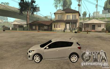 Mazda 3 Mazdaspeed 2010 для GTA San Andreas вид слева