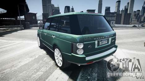 Range Rover Supercharged v1.0 для GTA 4 вид сзади слева