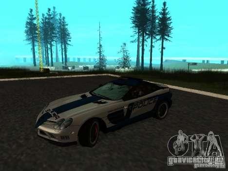 Mercedes-Benz SLR 722 SCPD для GTA San Andreas