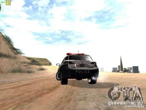 Lexus CT200H Japanese Police для GTA San Andreas вид сбоку
