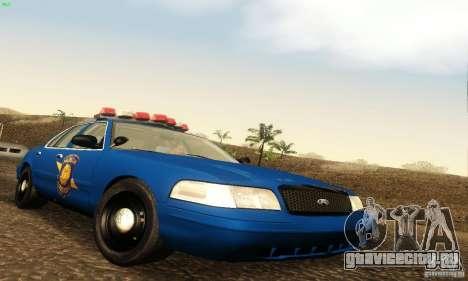 Ford Crown Victoria Michigan Police для GTA San Andreas