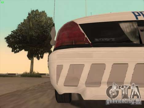 Ford Crown Victoria Vancouver Police для GTA San Andreas салон