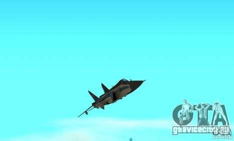 МиГ-31 Foxhound для GTA San Andreas вид сверху