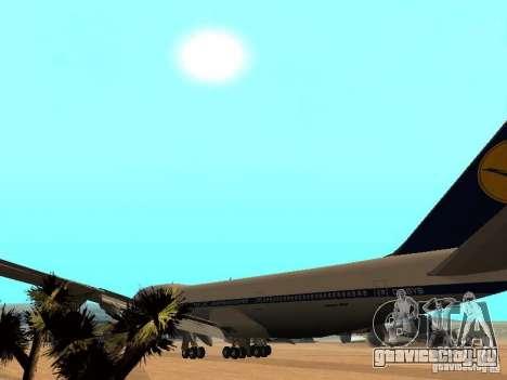 Boeing 747-100 Lufthansa для GTA San Andreas вид изнутри