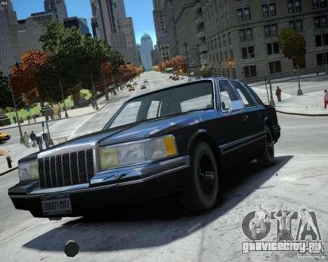 Lincoln Towncar 1991 для GTA 4