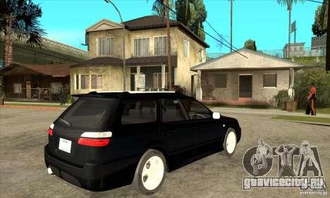 Subaru Legacy Station Wagon для GTA San Andreas вид справа