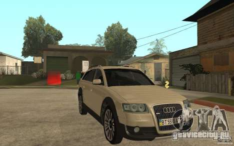 Audi Allroad Quattro для GTA San Andreas вид сзади