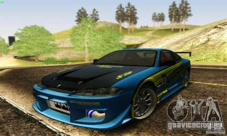 Nissan Silvia S15 для GTA San Andreas салон