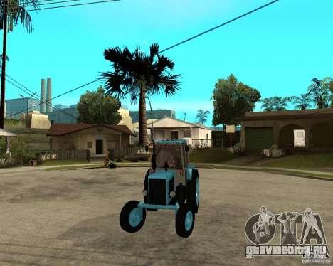 Трактор Беларусь 80.1 и прицеп для GTA San Andreas вид сзади