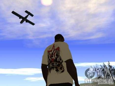 Футболка НоГГано228 и АК 47 для GTA San Andreas пятый скриншот