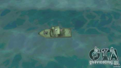Patrol Boat River Mark 2 (Player_At_Wheel) для GTA Vice City вид справа