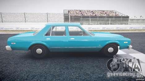 Dodge Aspen v1.1 1979 yellow rear turn signals для GTA 4 вид изнутри