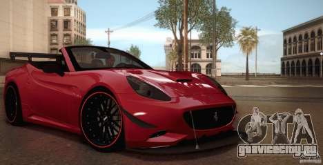Ferrari California для GTA San Andreas салон