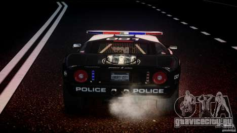 Ford GT1000 Hennessey Police 2006 [EPM][ELS] для GTA 4 двигатель