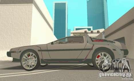 DeLorean DMC-12 (BTTF3) для GTA San Andreas вид справа