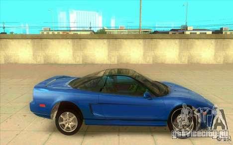 Honda NSX 1991 stock для GTA San Andreas вид слева