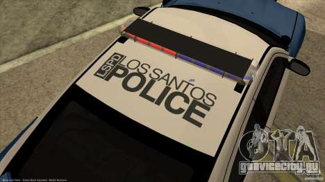 Dodge Charger Los-Santos Police для GTA San Andreas вид сзади