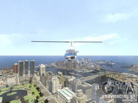 Bell 206 B - NYPD для GTA 4 вид сбоку