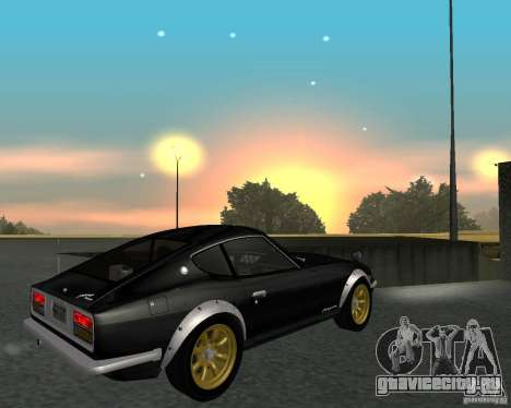 Nissan  Fairlady 240ZG для GTA San Andreas вид сзади