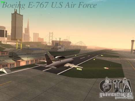 Boeing E-767 U.S Air Force для GTA San Andreas вид сверху