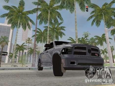 Dodge Ram R/T 2011 для GTA San Andreas вид изнутри