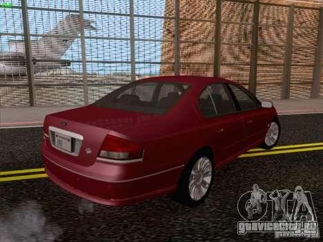 Ford Falcon Fairmont Ghia для GTA San Andreas вид сзади