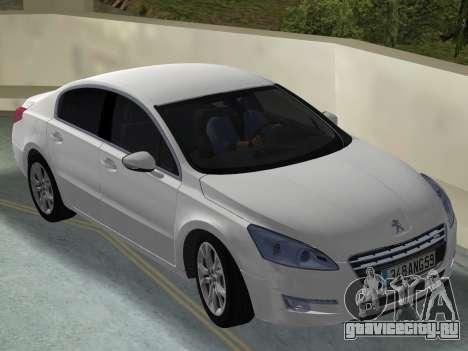 Peugeot 508 e-HDi 2011 для GTA Vice City вид справа