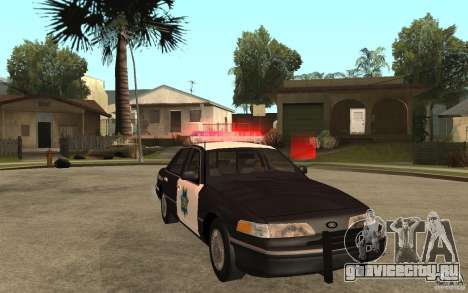 Ford Crown Victoria SFPD 1992 для GTA San Andreas вид сзади