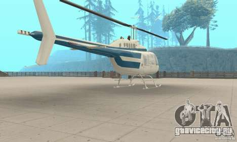 Bell 206B JetRanger II для GTA San Andreas вид слева