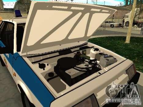 ВАЗ 2108 Милиция для GTA San Andreas вид сзади