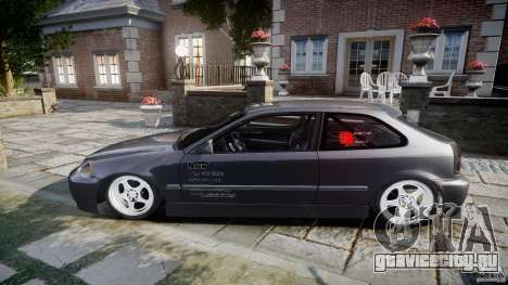 Honda Civic EK9 Tuning для GTA 4 вид изнутри