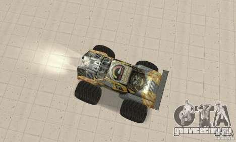 Monster Truck Maximum Destruction для GTA San Andreas вид сзади слева