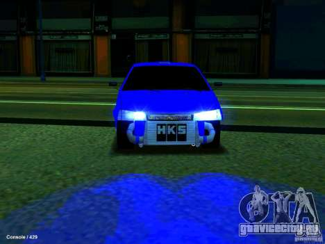 ВАЗ 21099 Турбо для GTA San Andreas вид сзади слева