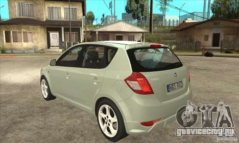 Kia Ceed 2011 для GTA San Andreas вид сзади слева